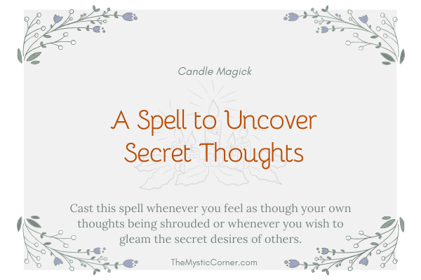 A Spell to Uncover Secret Thoughts