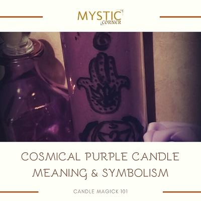 Cosmical Purple Candle Meaning & Symbolism featured