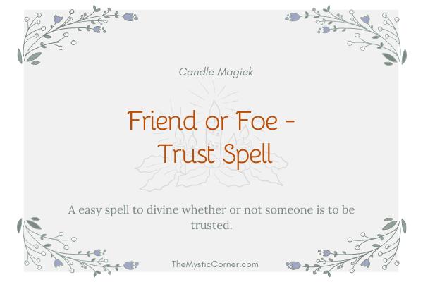 Friend or Foe - Trust Spell