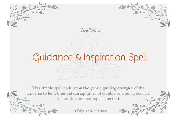 Guidance & Inspiration Spell