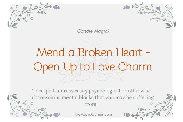 Mend a Broken Heart - Open Up to Love Charm