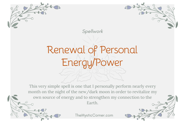 Renewal of Personal Energy and Power
