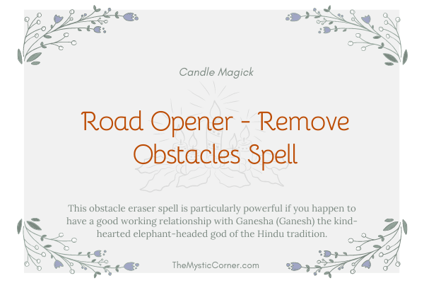 Road Opener - Remove Obstacles Spell