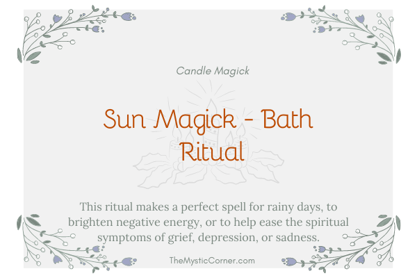 Sun Magick - Bath Ritual