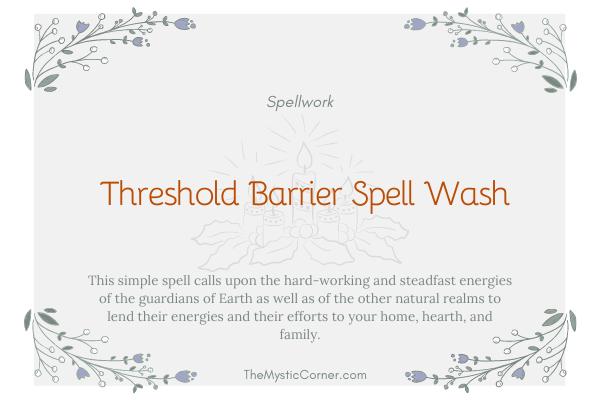 Threshold Barrier Spell Wash