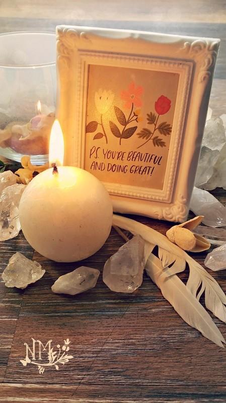 White Candle Naia Moonbrook