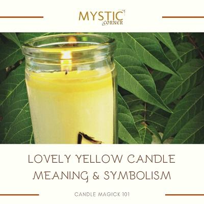 Yellow Candle Meaning & Symbolism featured