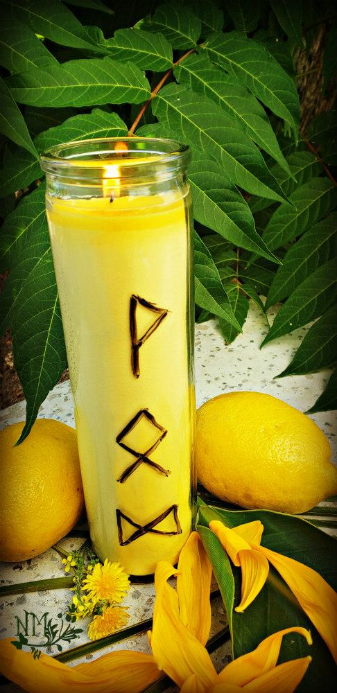 Yellow Candle Naia Moonbrook