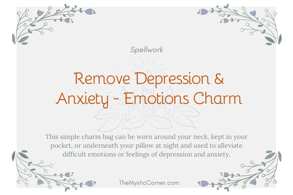 Remove Depression & Anxiety - Emotions Charm