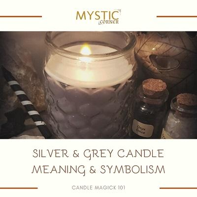 Silver & Grey Candle Meaning & Symbolism featured
