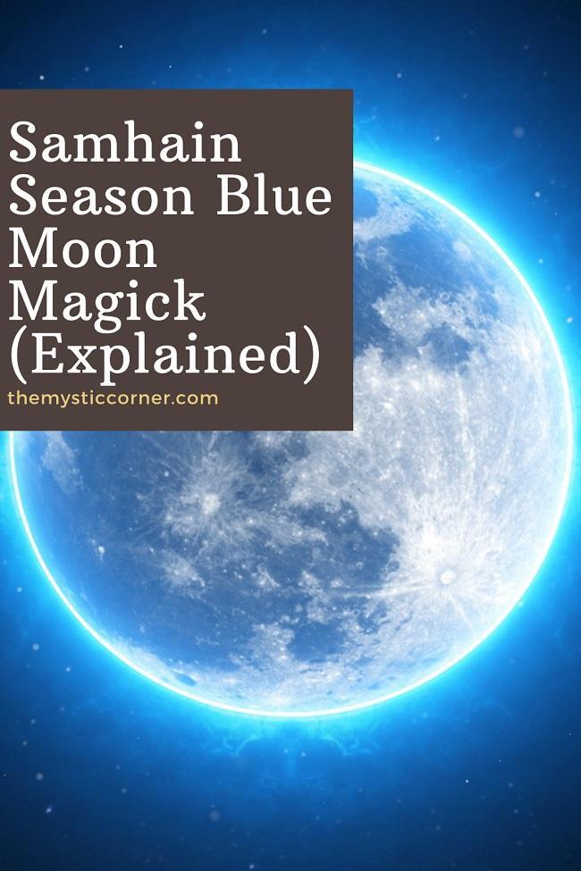 Samhain Season Blue Moon Magick pin