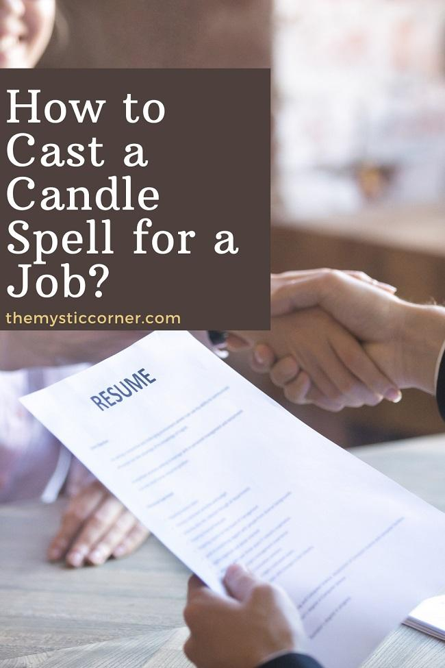 How to Cast a Candle Spell for a Job pin